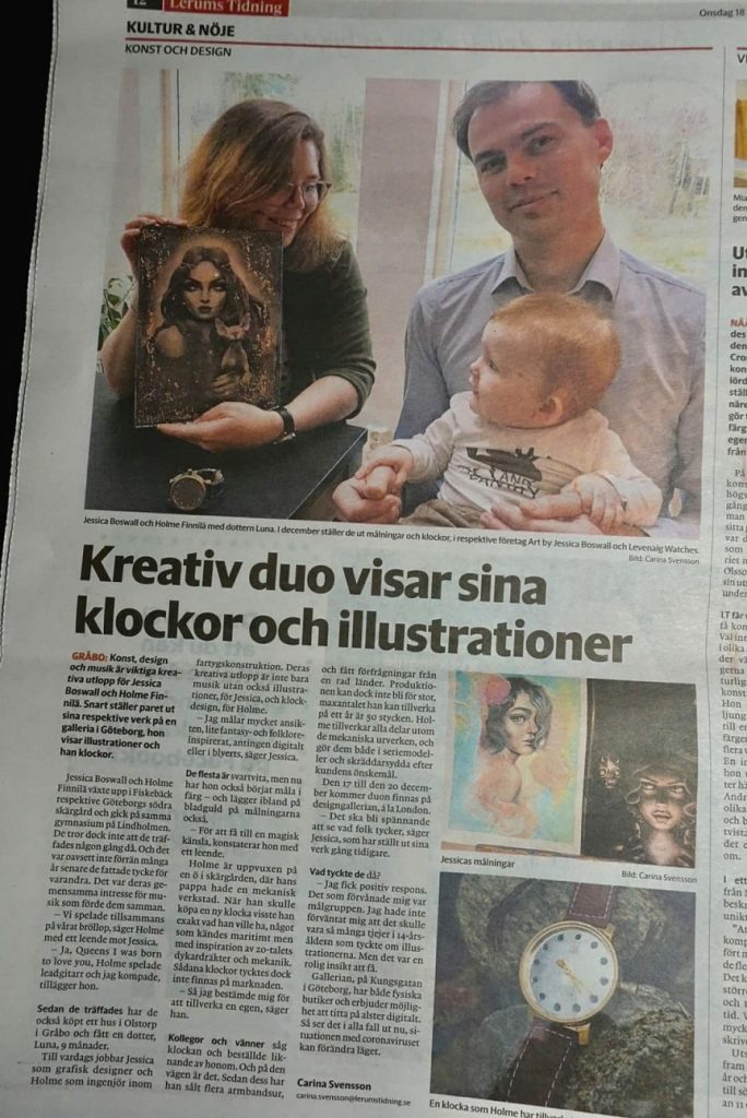An article from swedish newspaper Lerums Tidning about  Levenaig Watches.