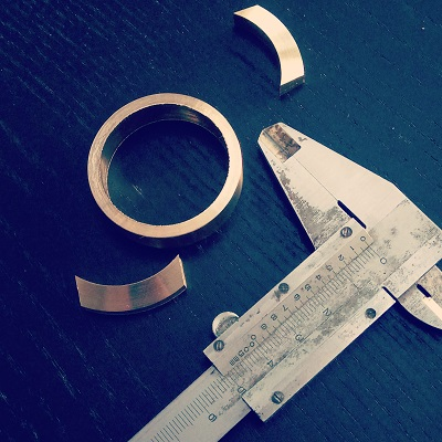 Vernier caliper and watch case parts from custom project